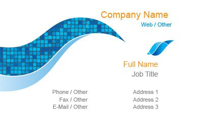 Blue Pool Tile Business Card Template